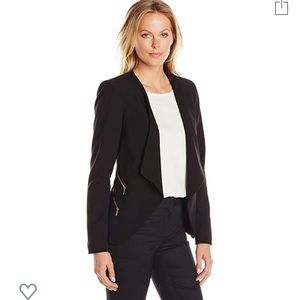 Calvin Klein Women's Open Front Four Zipper Blazer